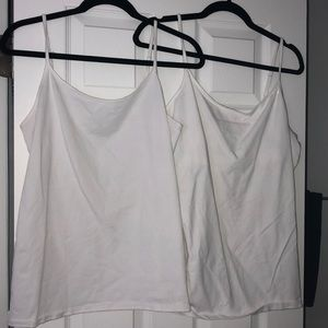 SET OF 2 White Express One Eleven XL Camis